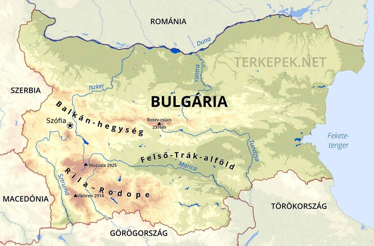 szerbia domborzati térkép Bulgária térképek szerbia domborzati térkép