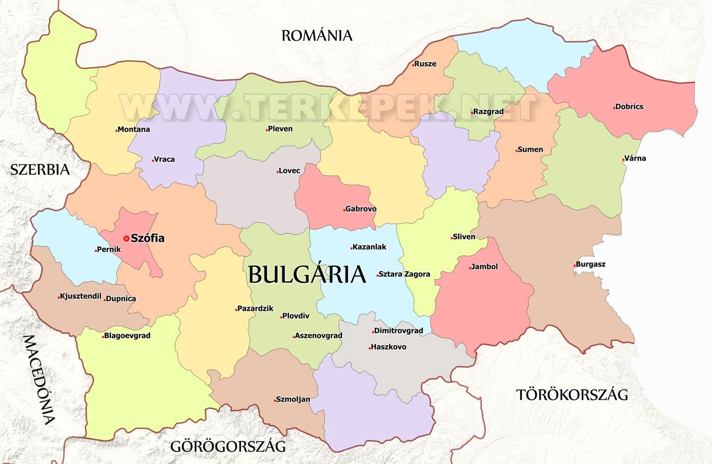 magyarország bulgária térkép Bulgária térképek magyarország bulgária térkép